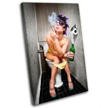 Smoking Girl Toilet Urban - 13-0160(00B)-SG32-PO